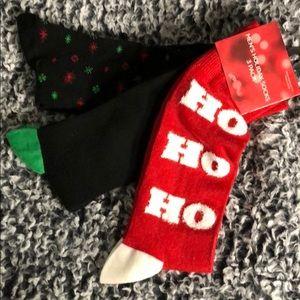 Other - 3 pack Men's Christmas 🎄Socks Ho Ho Ho  Red